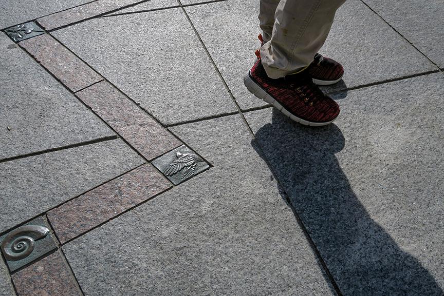 Walking Across a Plaza sm